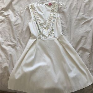 Guess white dress with sparkle stones